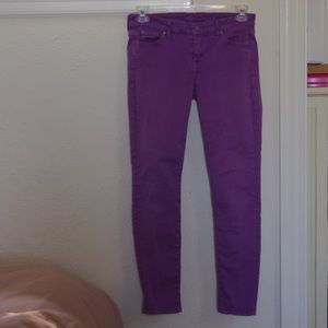 7 for all mankind purple jeans